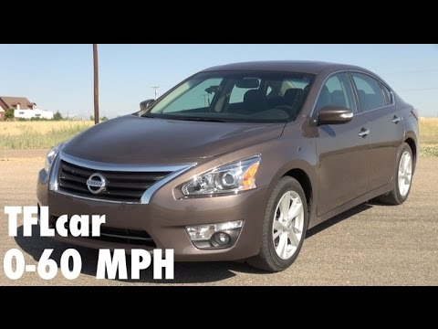 2014 Nissan Altima 0-60 MPH Review: So why do we test family cars on the track?
