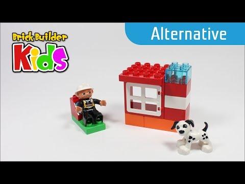 Vidéo LEGO Duplo 10591 : Le bateau des pompiers