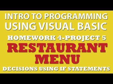 Visual Basic: Restaurant Menu (pp4-5) Using IF Statements