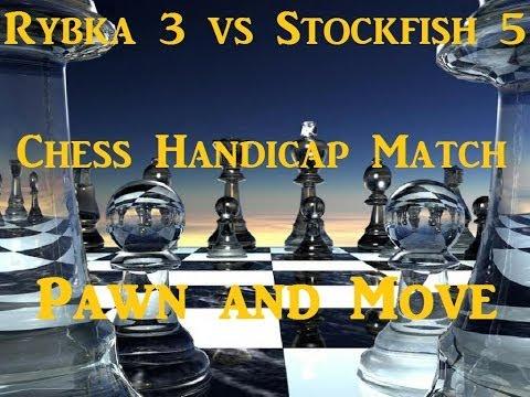 Rybka 3 vs Stockfish 5 Handicap Match Game 5