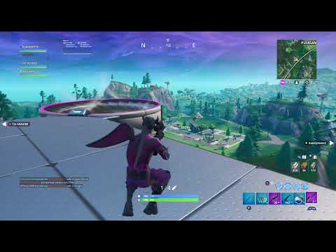 Fortnite - 281m Sniper Knock from up on Dyson