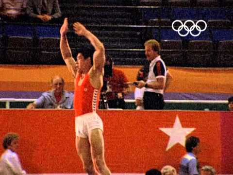"Ning Li Becomes The ""Little Prince Of Gymnastics"" - Los Angeles 1984 Olympics"