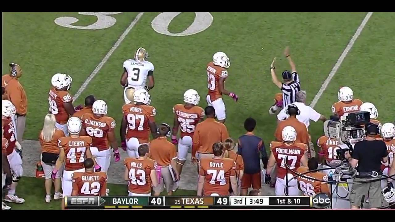 Lanear Sampson vs Texas, Iowa State & Texas Tech (2012)