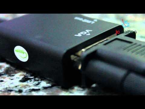 Cabos - Este conversor de HDMI para VGA portátil oferece a melhor relação em custo beneficio do mercado, além de ser fácil manuseio podendo ser transportado facilmen...