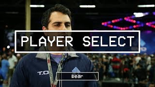 Player Select features pro gamers, talent, and OGs from the floor of EVO 2017. Featuring Bassem Dahdouh 'Bear' on Day 1.----------------------------------------------------------------------This is Red Bull eSports; your digital source for the latest news, tournament coverage, interviews, video features, and broadcasts for the Red Bull competitive gaming family.Follow us on Twitter: https://twitter.com/redbullesportsLike Red Bull eSports on Facebook: https://www.facebook.com/redbullesports/Subscribe: http://win.gs/SubToeSports