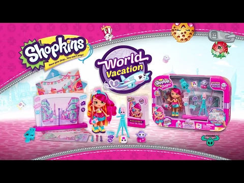 Shopkins Shoppies Season 8 Official   Zoe World Vacation   Kids Toy Commercials