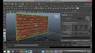 Maya 2014 tutorial : How to create a realistic looking brick wall