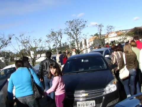 greve dos professores, visita de colombo, em criciuma.