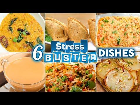 6 Stress Buster Recipes | How To Make Samosa | Dal Khichdi | Chai | Tawa Pulao | Margherita Pizza