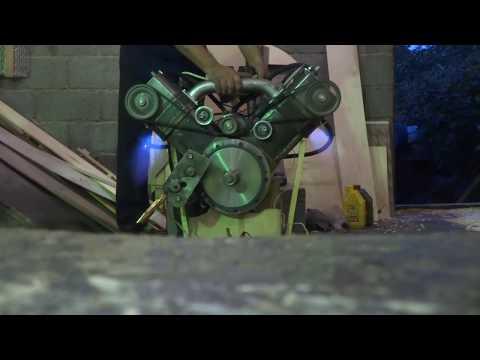 Первый запуск самодельного двигателя