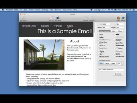 How to add a website hyper link into your email using Awesome Mails for Mac