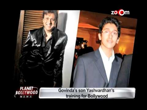 Govinda training his son for Bollywood!