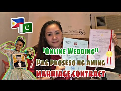"""ONLINE WEDDING"""" Ang pag proseso ng aming'MARRIAGE CONTRACT"""" 