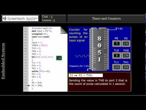 Microcontroller - In this lecture we will study timer and use of timer in 8051 micro-controller. Types of timer in 8051 micro-controller and timer and counter programming. To ...