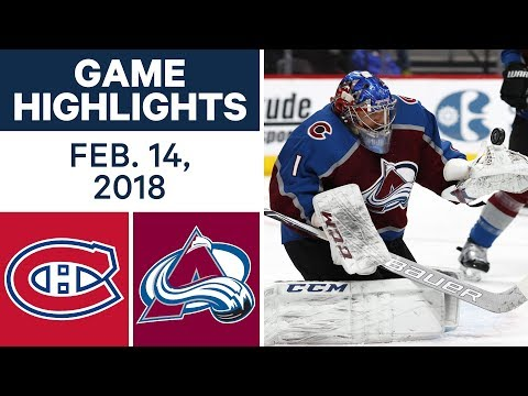 Video: NHL Game Highlights | Canadiens vs. Avalanche - Feb. 14, 2018