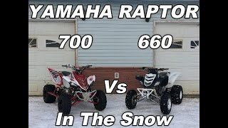 2. Raptor 700 Vs Raptor 660 In The Snow!!