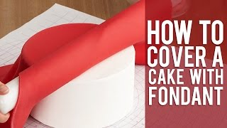 HOW TO COVER A ROUND CAKE WITH FONDANT