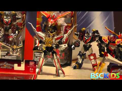Power Rangers Megaforce Toys from Bandai 2013