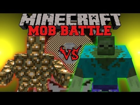 Mutant Zombie Vs. Glowstone Monster - Minecraft Mob Battles - Angry Creatures Mod
