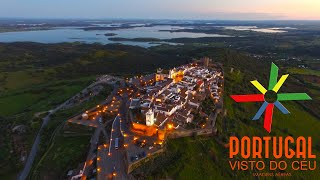 Monsaraz Portugal  city photos : Alqueva and Monsaraz aerial view at dusk - 4K Ultra HD