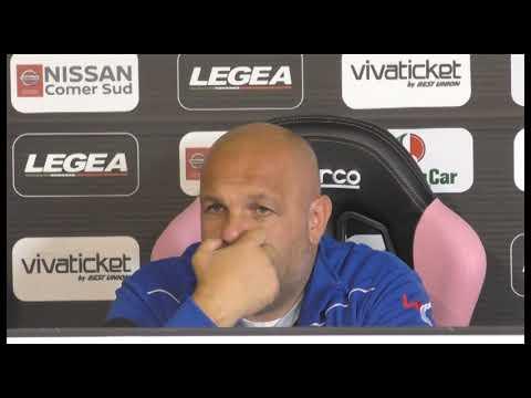 Palermo, la conferenza di Tedino alla vigilia della sfida col Pescara