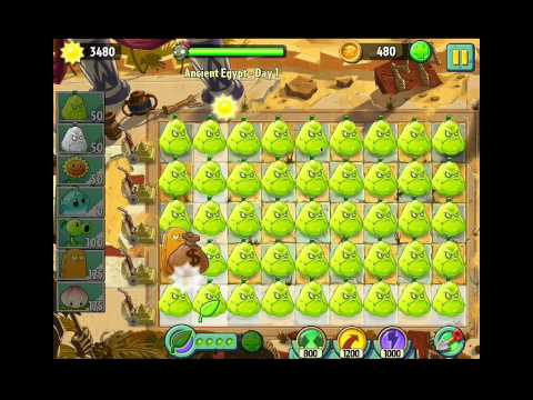 plants vs zombies 2 squash party