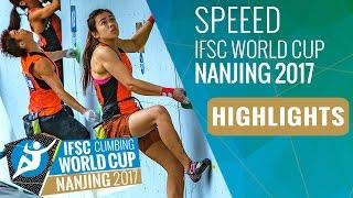 IFSC Climbing World Cup Nanjing 2017 - Speed Highlights by International Federation of Sport Climbing