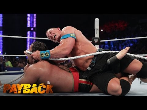"WWE Network: Lana Puts An End To The ""I Quit"" Match Between John Cena And Rusev: WWE Payback 2015"