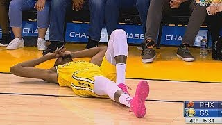 Kevin Durant Suffers Injury & Leaves Game! Warriors vs Suns