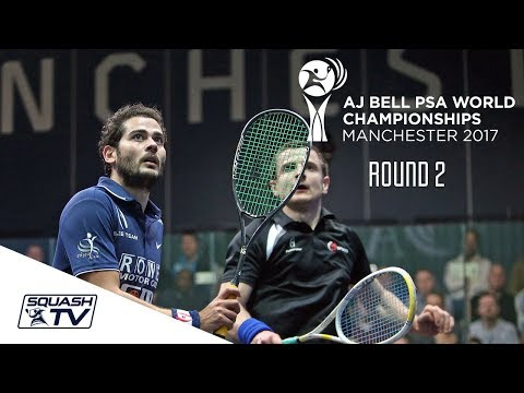 Squash: AJ Bell  PSA World Championships 2017 - Men's Rd 2 Roundup