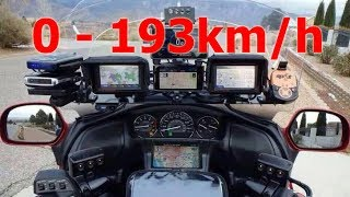 8. Honda Gold Wing GL1800 - Acceleration 0-193km/h & Startup & Exhaust Sound & Burnout & Speed