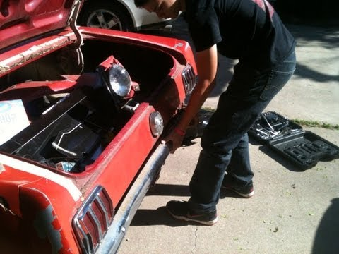DIY – How To Replace A Quarter Panel on a 1966 Mustang – Part 1