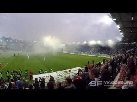 Video: Finale FSA Hallescher FC - 1. FC Magdeburg Choreo 18.05.2016 (HD Mai 2016)