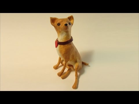 Paper Mache Chihuahua, Adding the Paper Mache