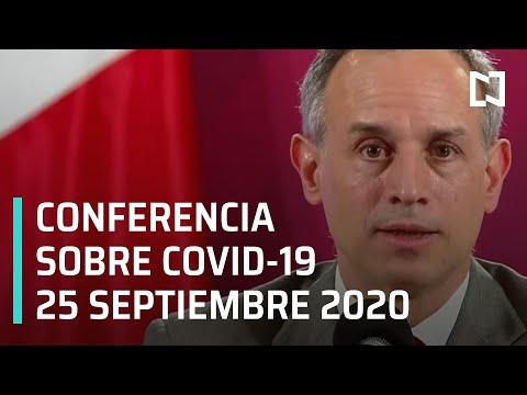 Conferencia Covid-19 en México - 25 septiembre 2020