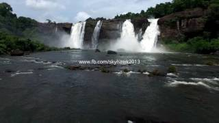 Athirapally India  city images : Aerial stock footage HD.The best waterfall of India. Athirapally waterfalls in Kerala