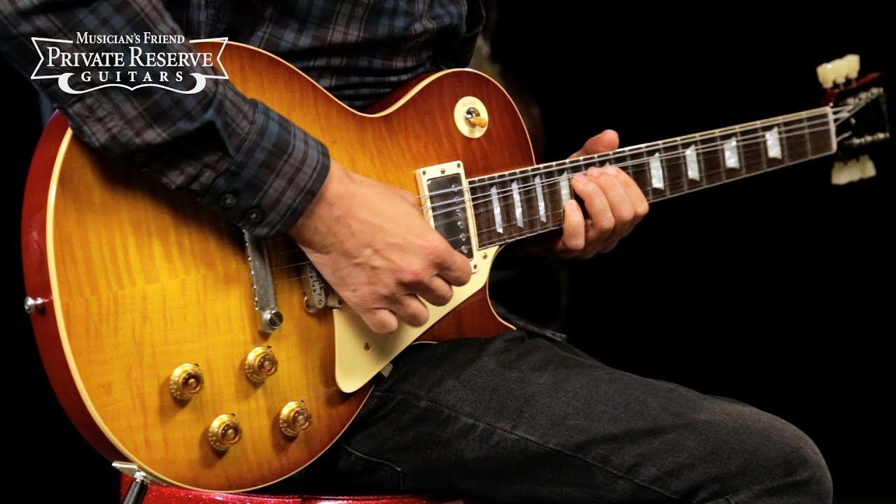 Gibson Custom LTD VOS '59 Les Paul Std. Electric Guitar, Flame Top w/ Brazilian Rosewood Fingerboard