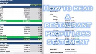 how to read a restaurant profit loss statement bar patrol