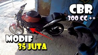 Video MODIF HABIS 35 JUTA - CBR 1 SILINDER JADI UP 300-400 CC Mesin SANGAR MP3, 3GP, MP4, WEBM, AVI, FLV Januari 2019
