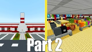 Minecraft Tutorial: How To Make A Bowling Alley Part 2 (2019 City Tutorial)