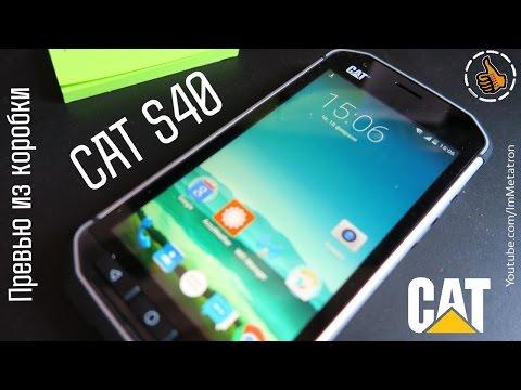 CAT S40 защищенный смартфон - превью из коробки