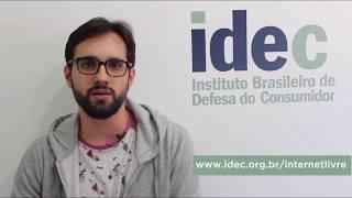 Canal de vídeos do Idec para promover a Descrição: