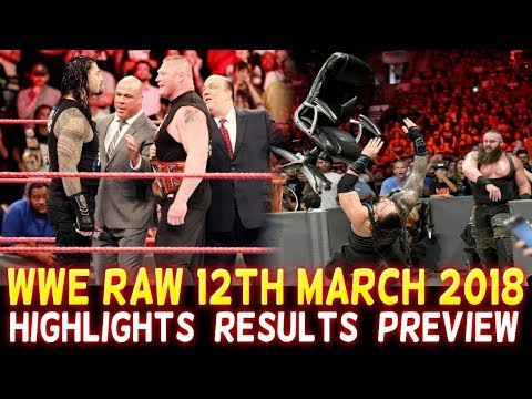 WWE Monday Night Raw 12th March 2018 Hindi Highlights Preview - Roman Reigns | Brock Lesnar Results