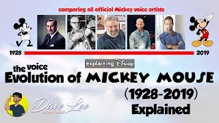 Voice Evolution of MICKEY MOUSE Over 91 Years (All Voice Actors Comparison 1928-2019) Explained