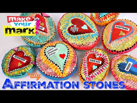 Mixed Media Affirmation Stones