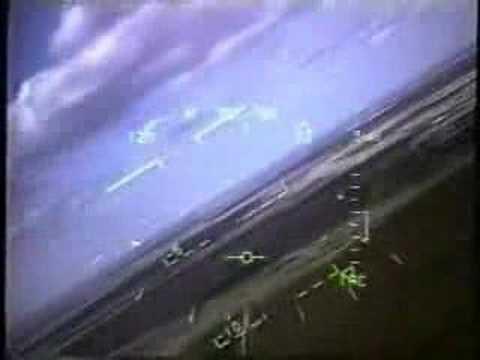ジェット戦闘機がエンジンに鳥を吸い込む