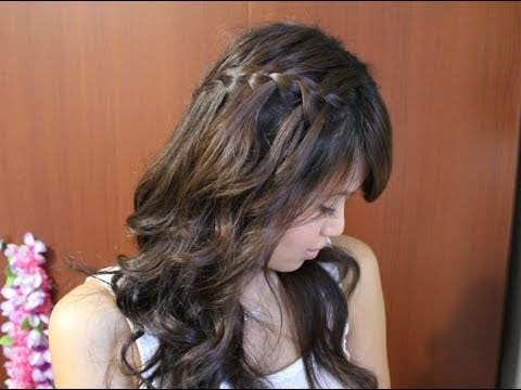 How to: Waterfall Braid Hairstyle for Long and Short Hair Tutorial