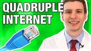 Video Quadruple Your Internet Speed for Free MP3, 3GP, MP4, WEBM, AVI, FLV Juni 2019