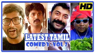 Video Latest Tamil Comedy Scenes | Vol 2 | Sivakarthikeyan | G V Prakash | Arvind Swamy | Yogi Babu MP3, 3GP, MP4, WEBM, AVI, FLV September 2018