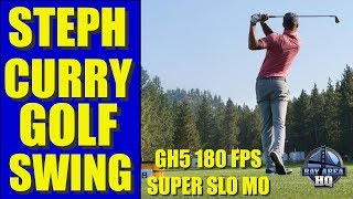 STEPH CURRY GOLF SWING in SUPER SLO MO on Panasonic GH5 180FPS American Century Golf 2017